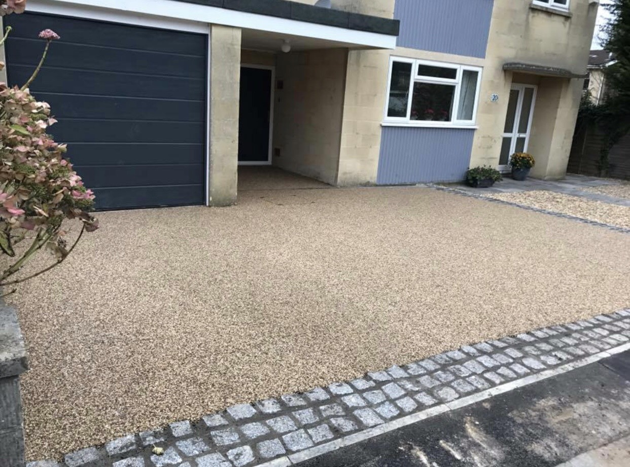 resin driveway installation in bath